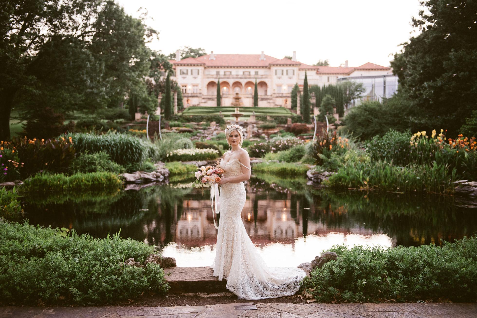 Philbrook Museum of Art Gardens Bridal | Kerrie